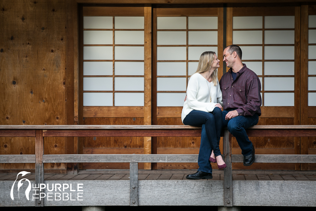 Fort Worth Japanese Garden Fall Engagements - Morganne & Ronnie