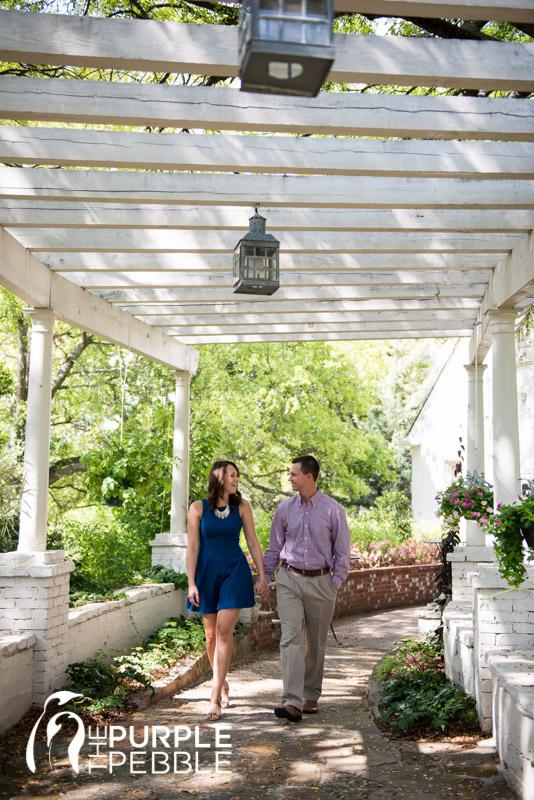 outdoor engagement walking couple chandor garden - The Purple Pebble ...