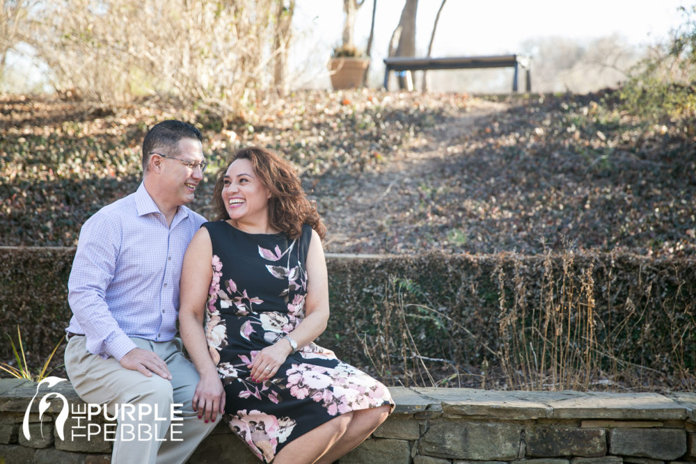 Couple get cozy during their engagement session