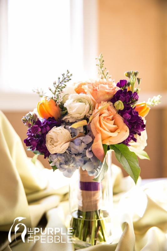 Peach Jewel Tone Bridal Bouquet Marquis On Magnolia