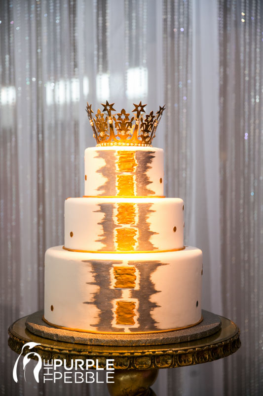 Gorgeous Gold And Silver Princess Wedding Cake Tp Station