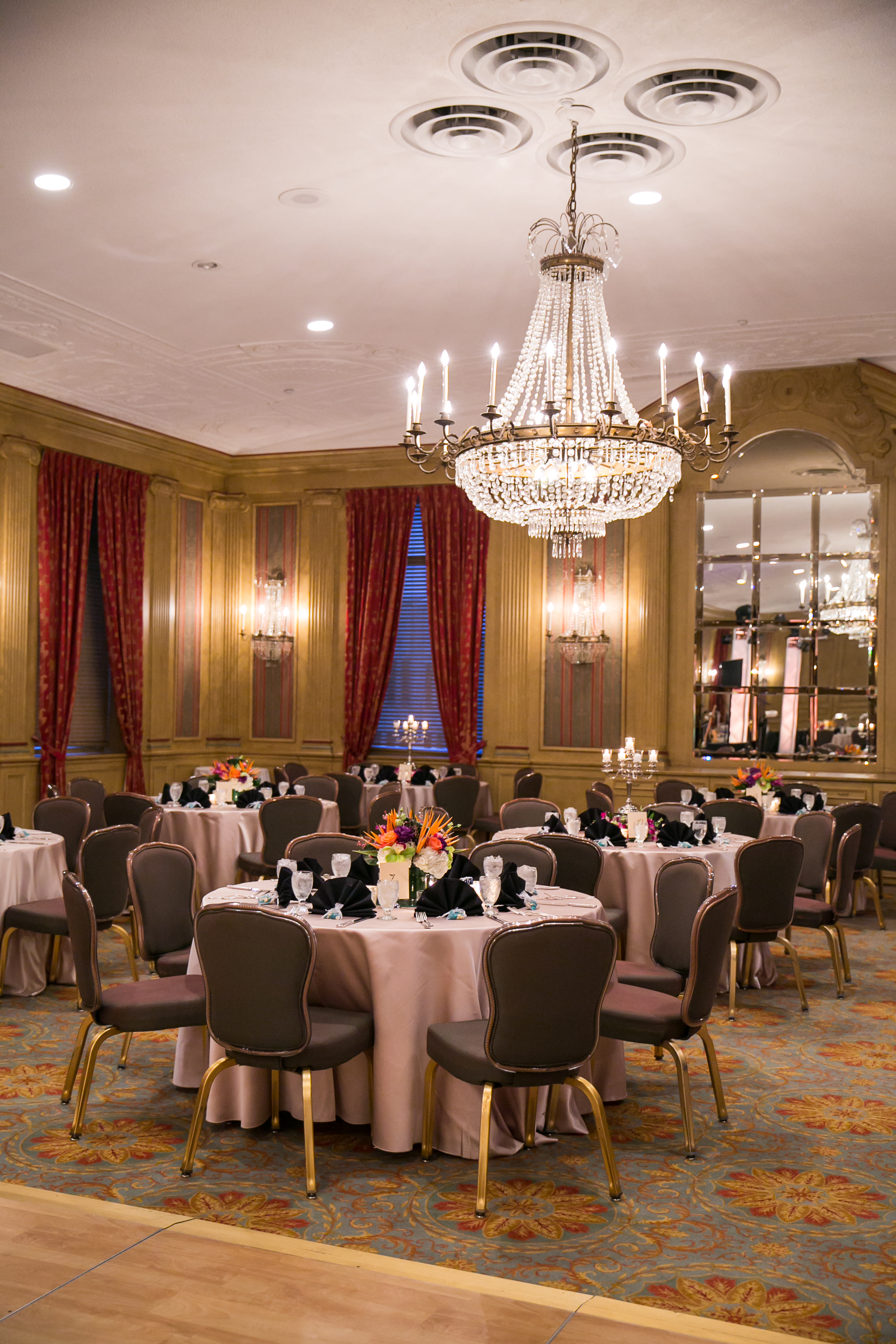 Bride Groom Winter Reception Fort Worth Club Texas The Purple