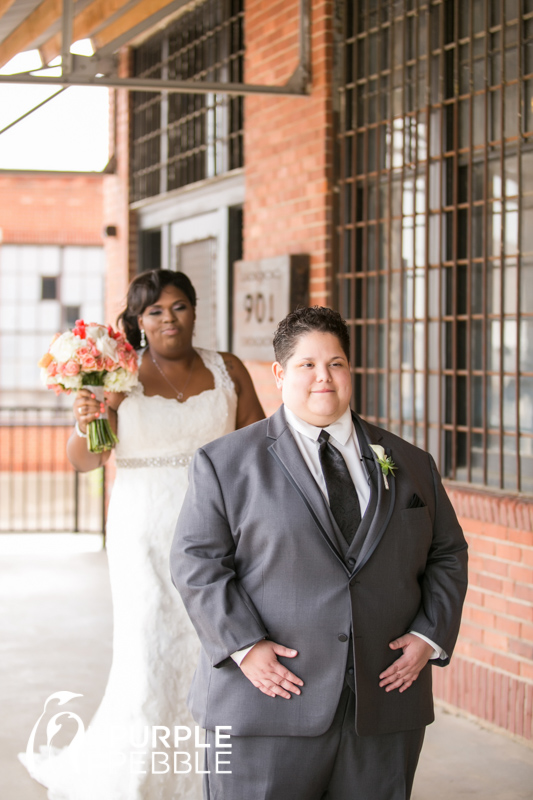 lesbian couple wedding day first look ideas - The Purple Pebble ...