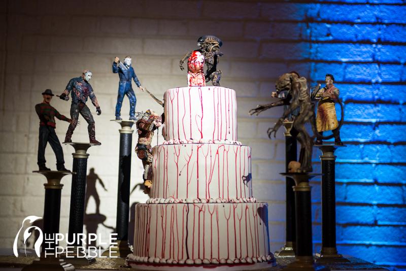 unique horror movie theme brides wedding cake ideas - The Purple ...