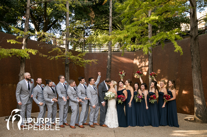 Wedding Water Gardens Quiet Pool Fort Worth Texas The Purple Pebble Dallas Photographers