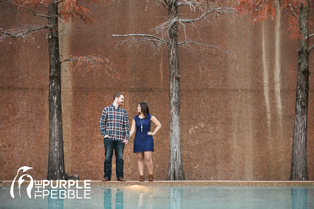 Water gardens quiet pool engagement session fort worth - Fort worth water gardens wedding ...
